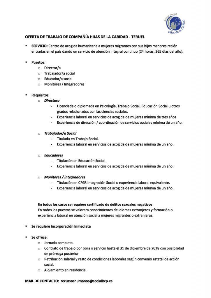 ofertas empleo en Teruel